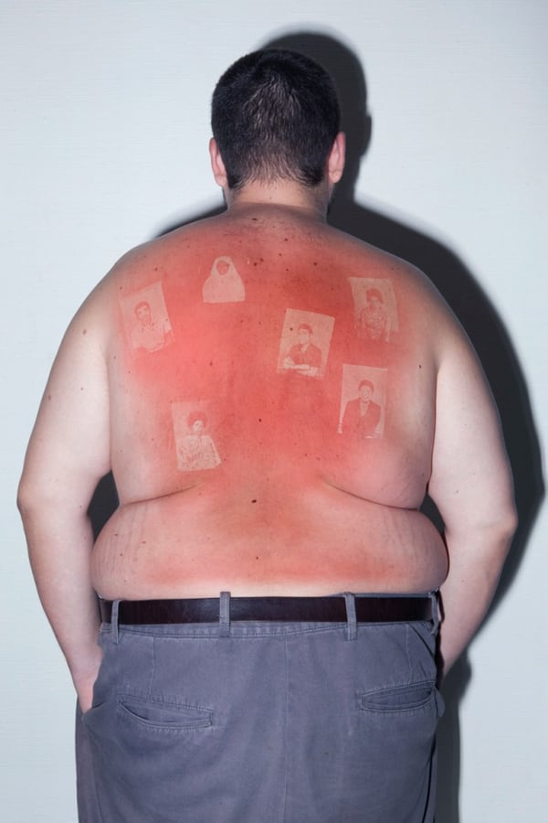 Illustrated People: French Artist Projects Old Negatives On A Human Skin -photo-project, book