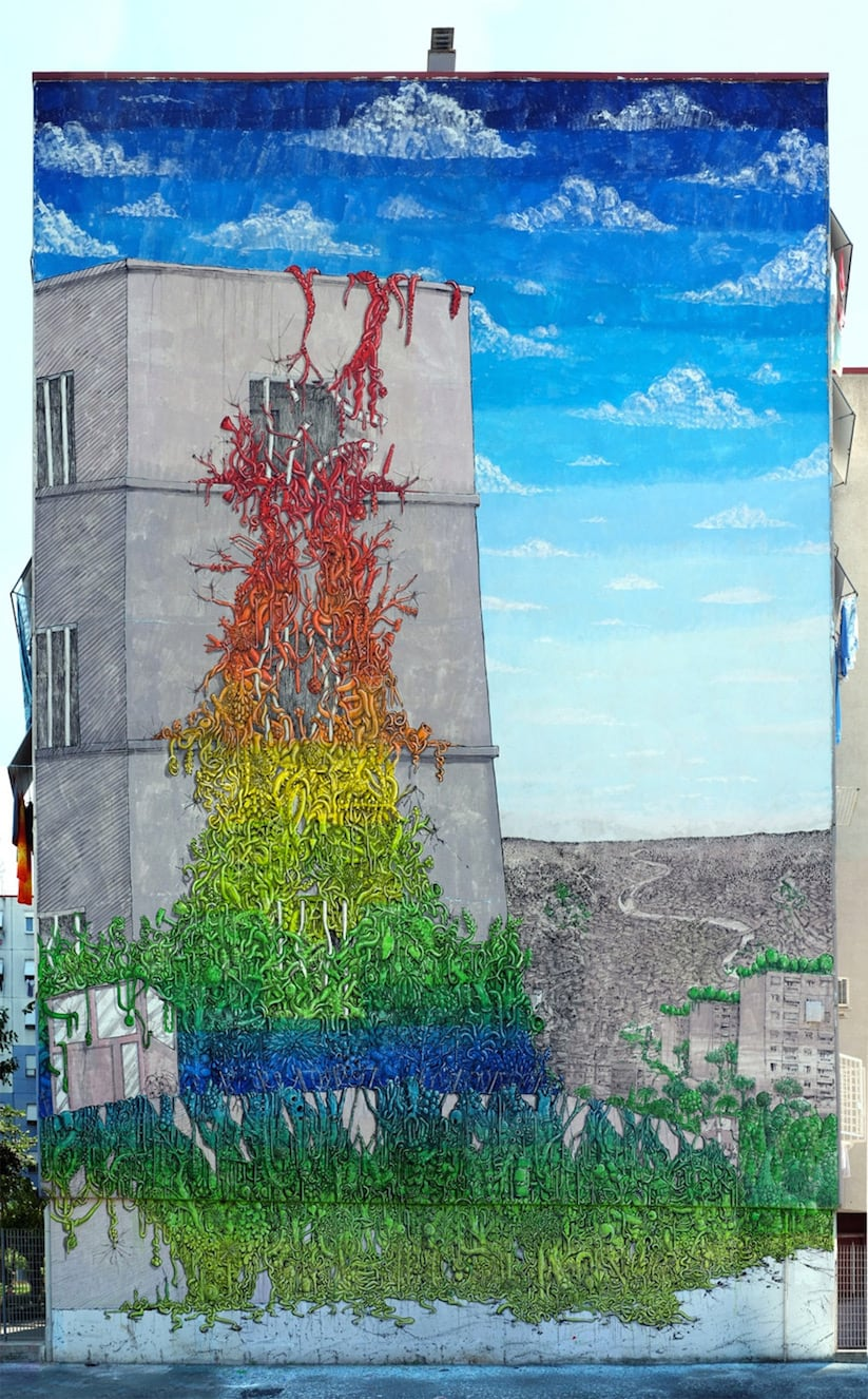 New Largescale Mural from Blu in Rome // Italy -