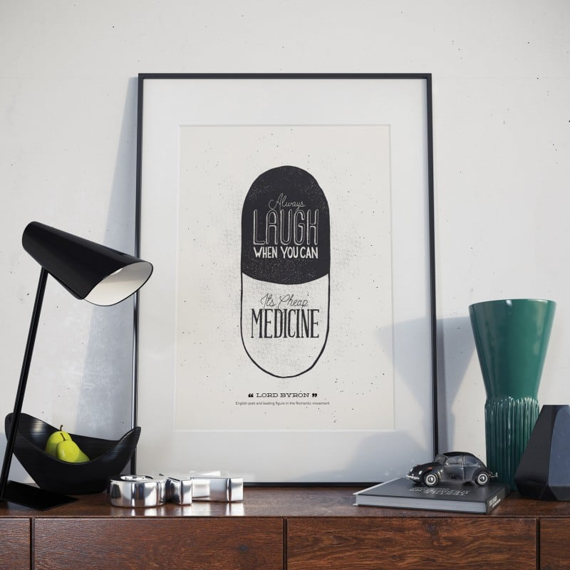 LORD BYRON HAND LETTERED POSTER QUOTE