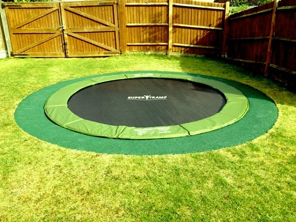 Safer In-Ground Trampoline