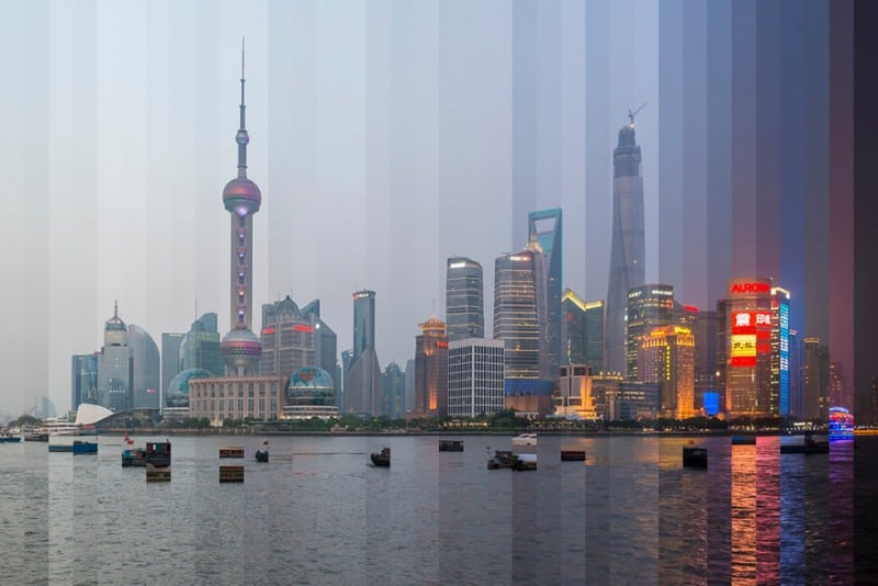 Time Sliced: Day To Night Transition Of Iconic Buildings In One Photo -travel, time, photography, city