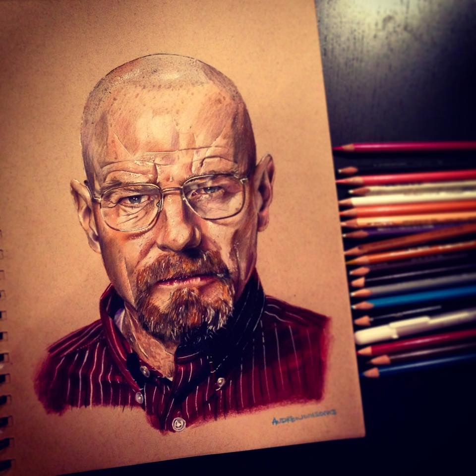Amazing Colored Pencil Drawings by Andrew Wilson -portraits, pencil, illustrations, drawings, colorful, celebrities