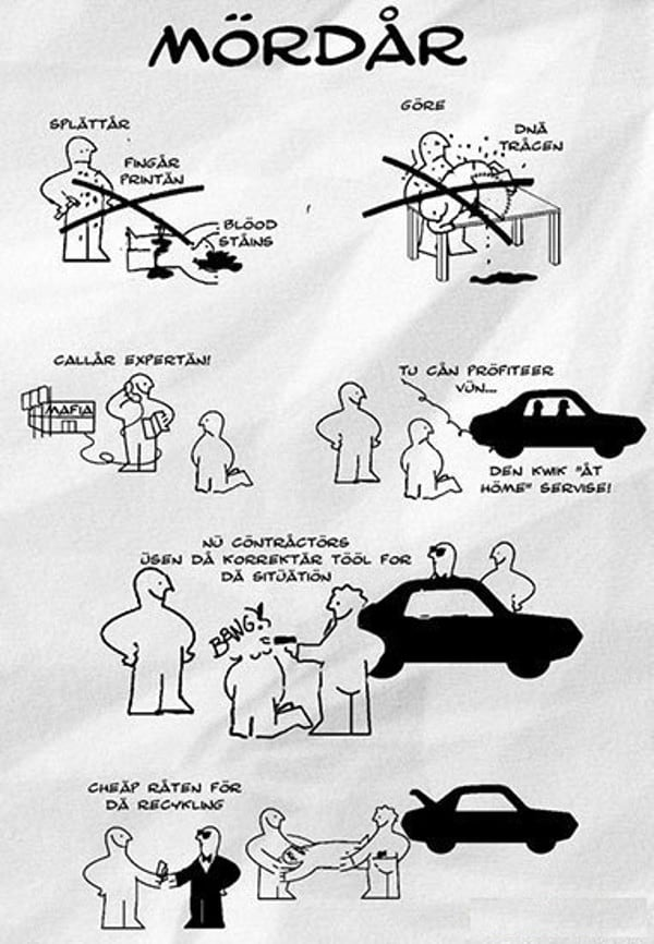 A funny murder scenario via ikea assembly instructions