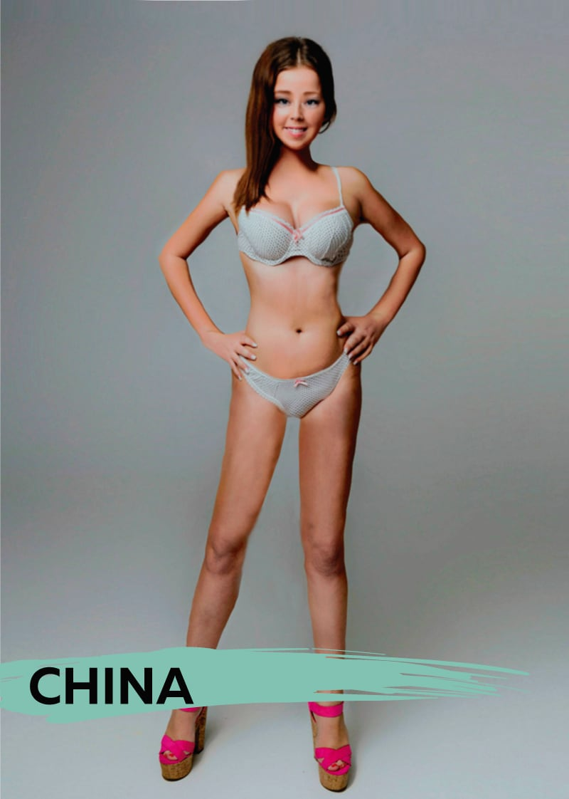 What The Perfect Woman Looks Like In 18 Different Countries -woman, culture, beauty