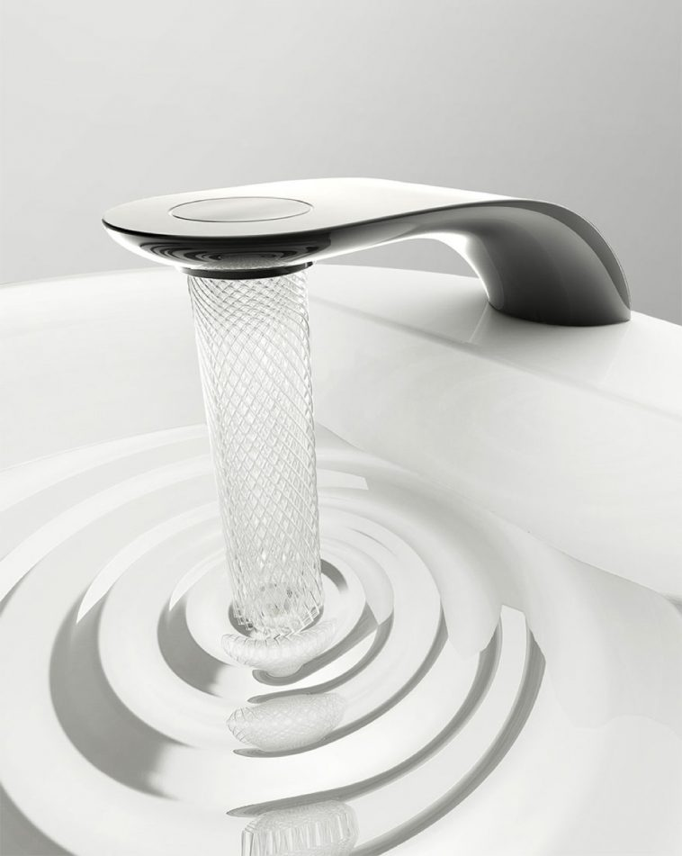 Student Designed A Faucet That Saves Water By Swirling It Into Delicate Patterns