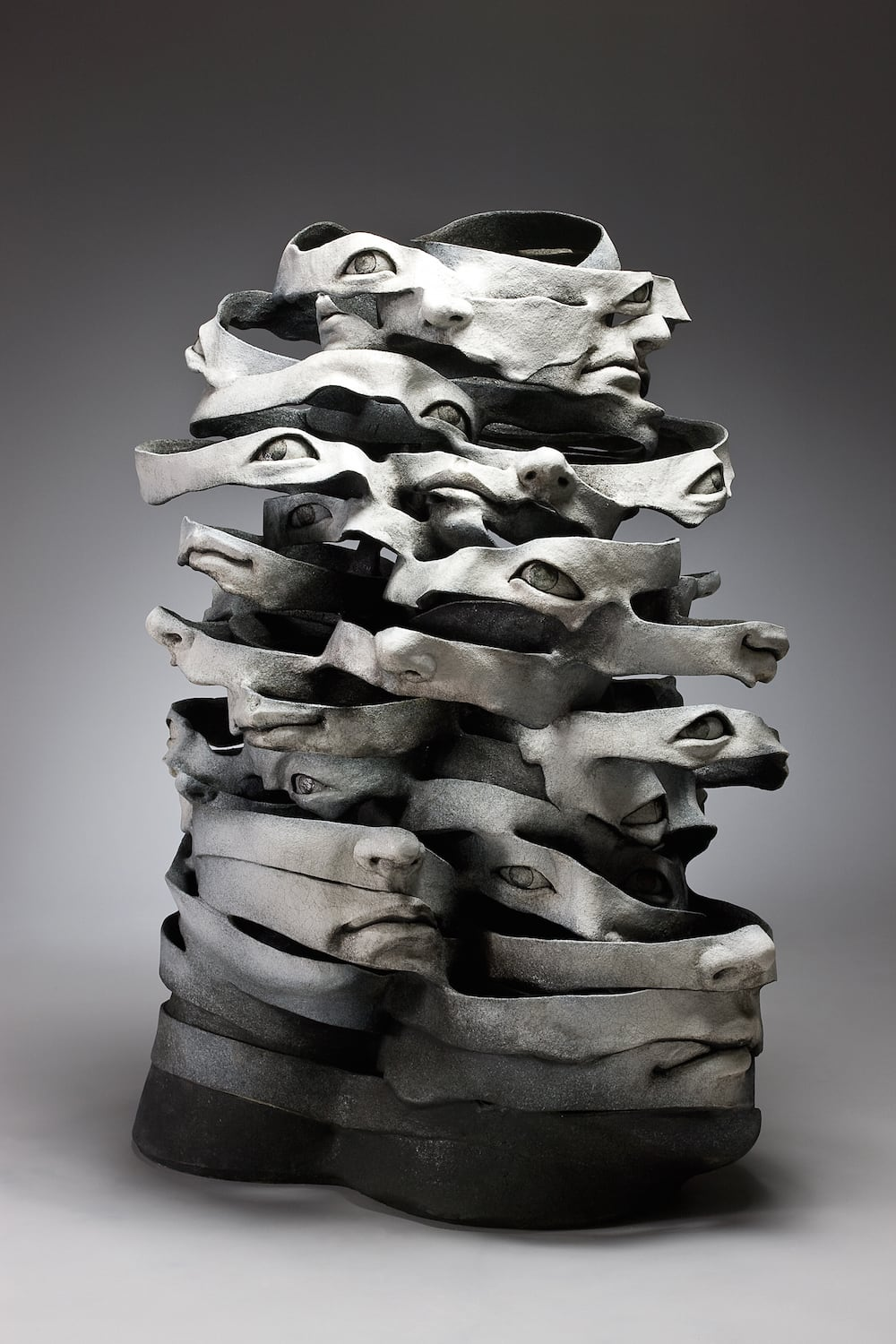 LeeHaejin Memoirs of Imageries and Emotions L80xD55xH105cm 2011 - Artist Creates Ceramic Sculptures That Unwind Before Your Eyes