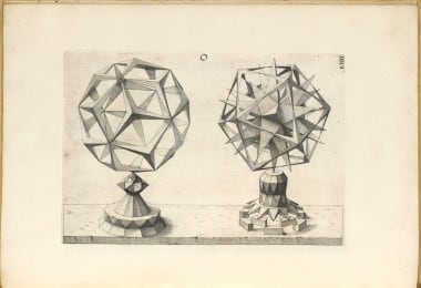 Page from Wenzel Jamnitzer's 'Perspectiva corporum regularium'