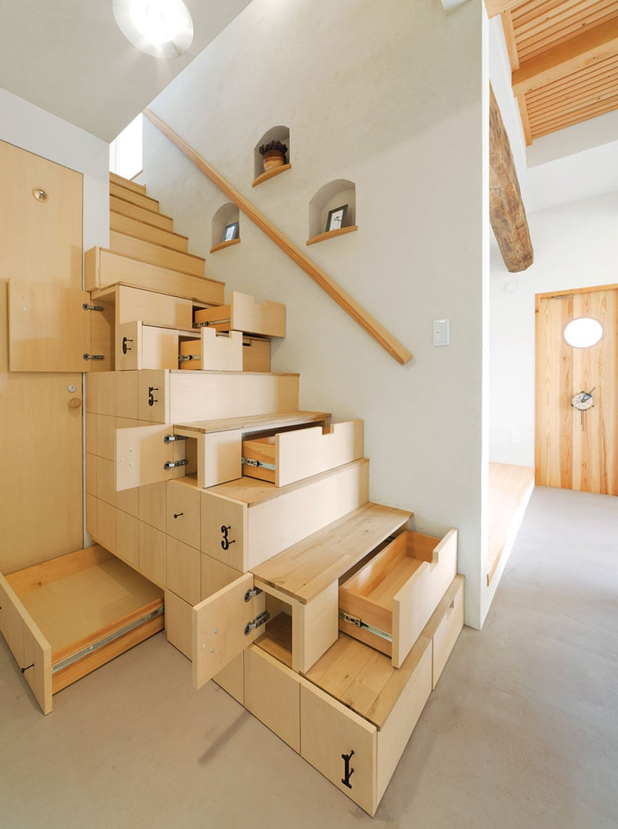 Stairs and drawers in one