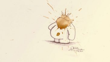 stefan kuhnigk coffeemonsters 468 1000x550 364x205 - German Artist Turns Random Coffee Stains Into Little Creatures
