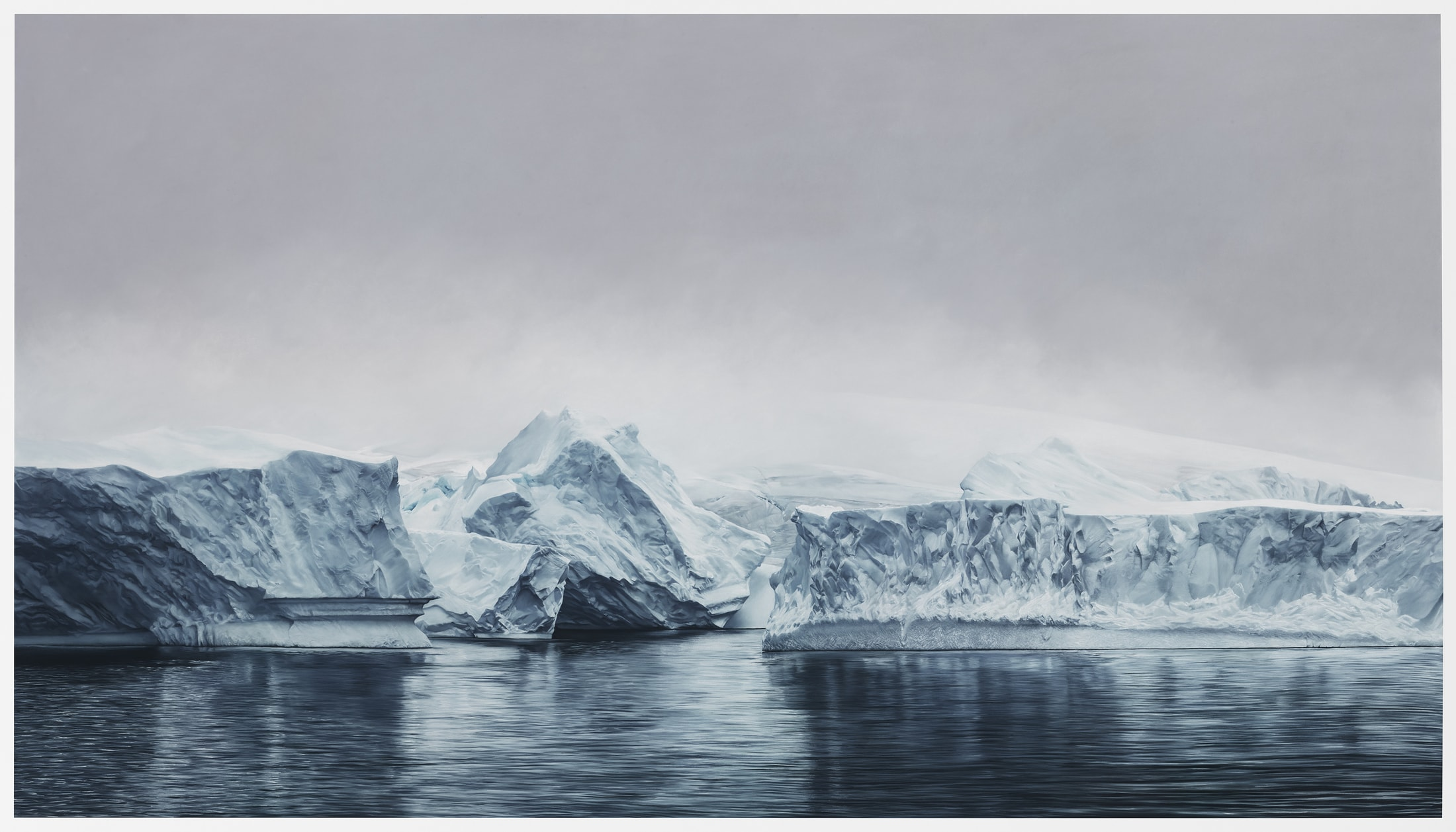 hyperrealistic pastel paintings of landscapes affected by
