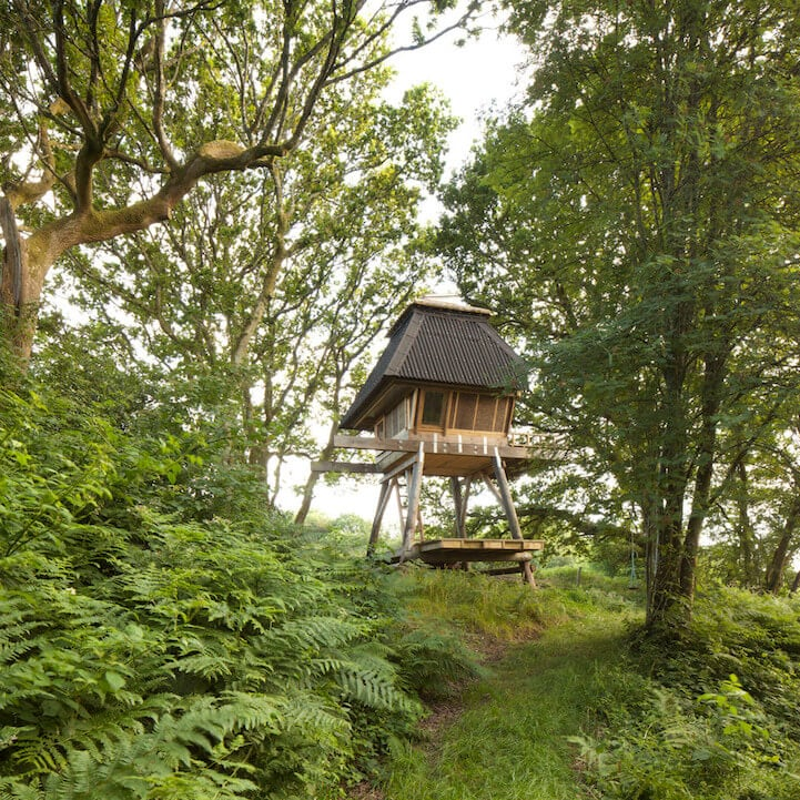 Isolated Wooden Cabin on Stilts is a Creative Getaway for Writers -inspiration, forest, cabin, architecture