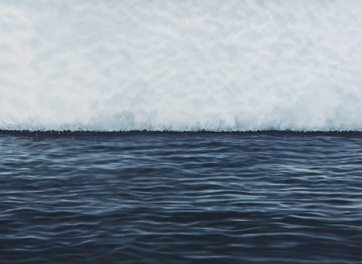 Hyperrealistic Pastel Paintings of Landscapes Affected by Climate Change -paintings, hyper-realistic, earth, drawings, climate change