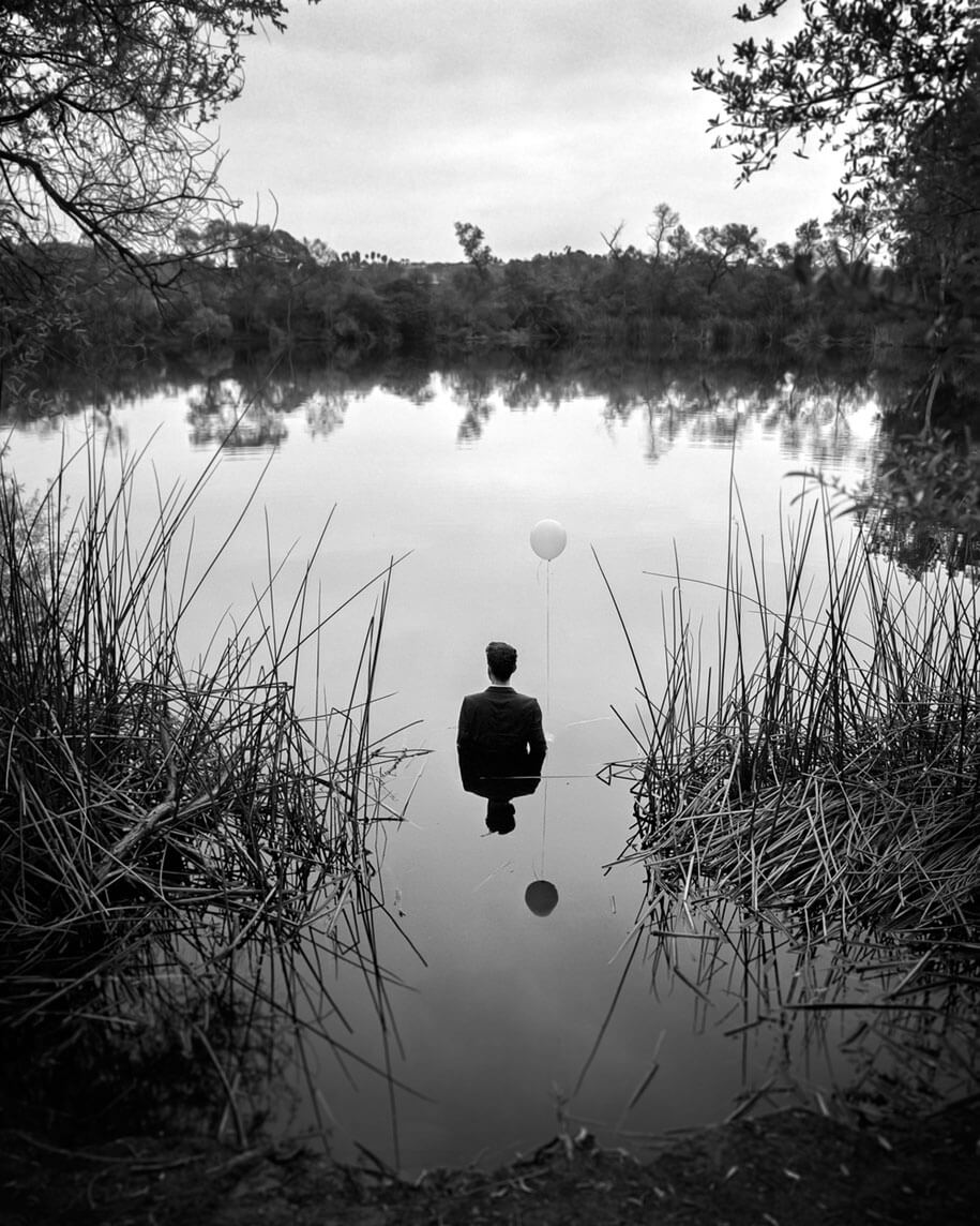 Photographer Shows His Own Depression In Self Portraits -social issues, self-portrait, portrait, mental health, depression