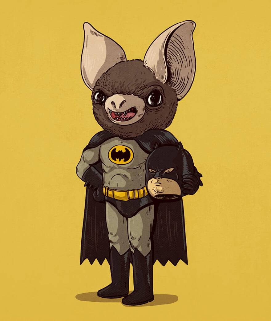 """Clever Illustrations Uncover the """"True"""" Identities of Pop Culture Icons -pop-culture, illustration, Alex Solis"""