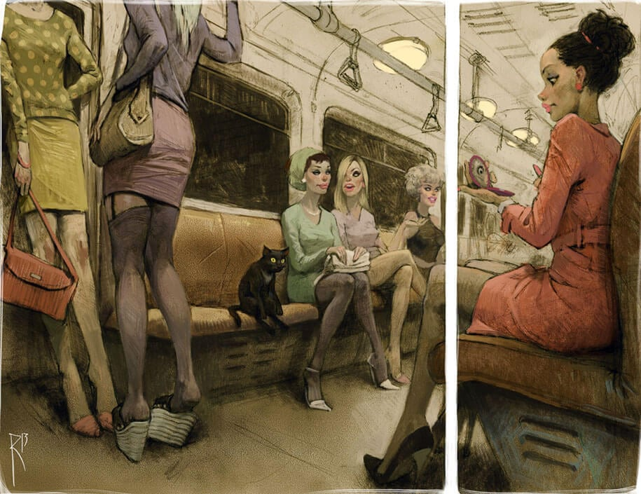 These Provocative Illustrations Full Of Hidden Messages -retro, illustrations