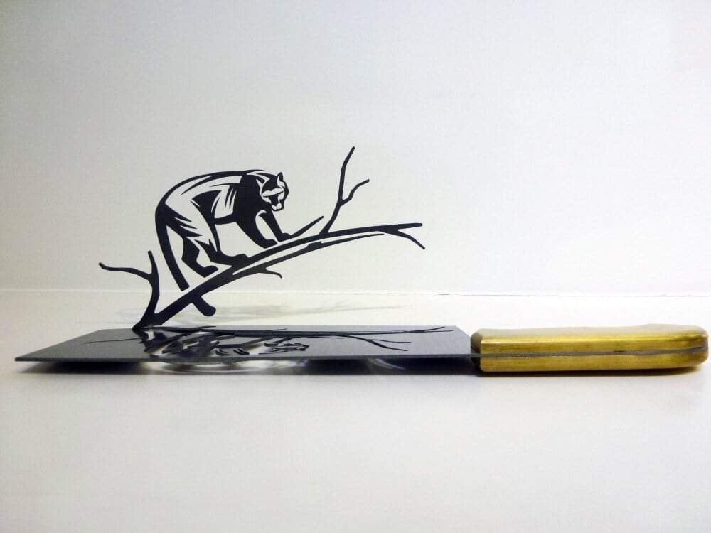 Silhouette Artworks Delicately Cut from Butcher Knives -feat