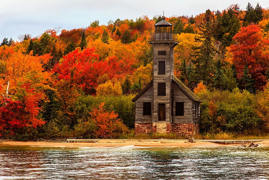 Grand Island East Channel Light House, Michigan (1)