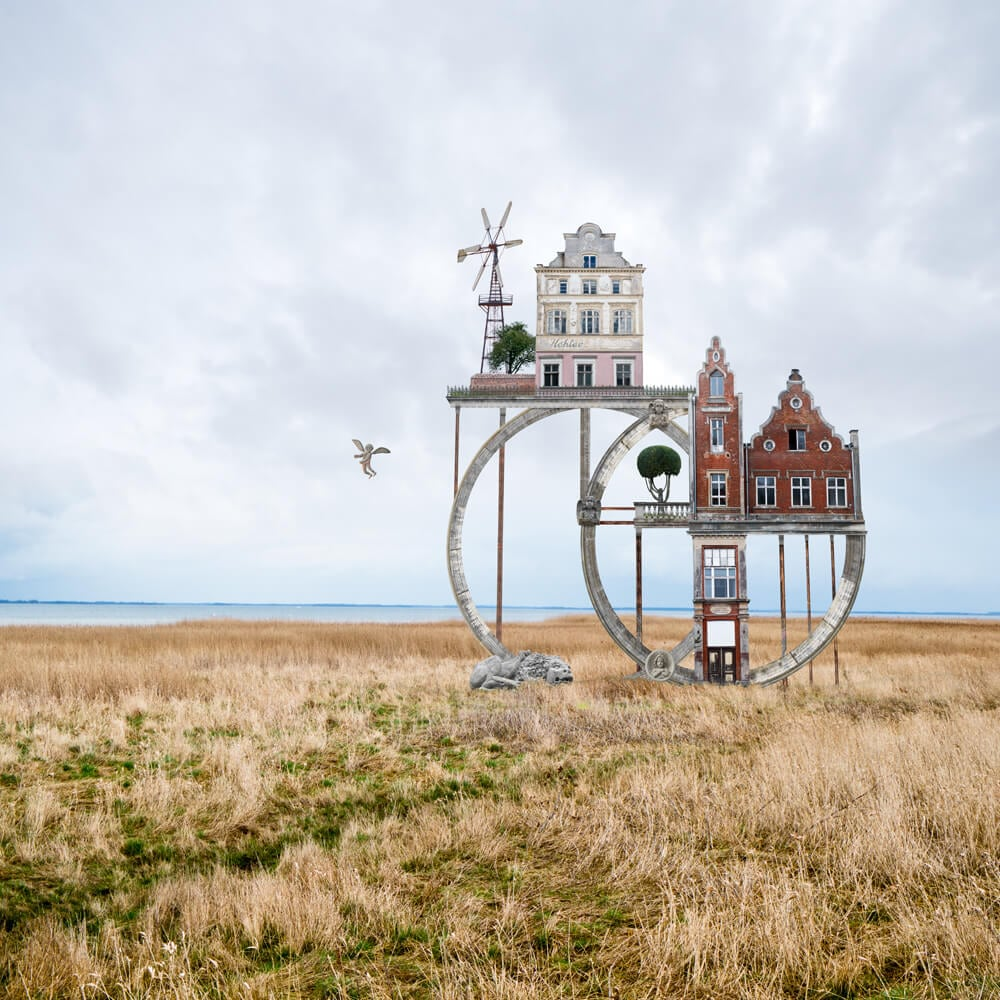 Architectural Collages That Double as Visual Poems by Matthias Jung -surreal, feat, collages, building