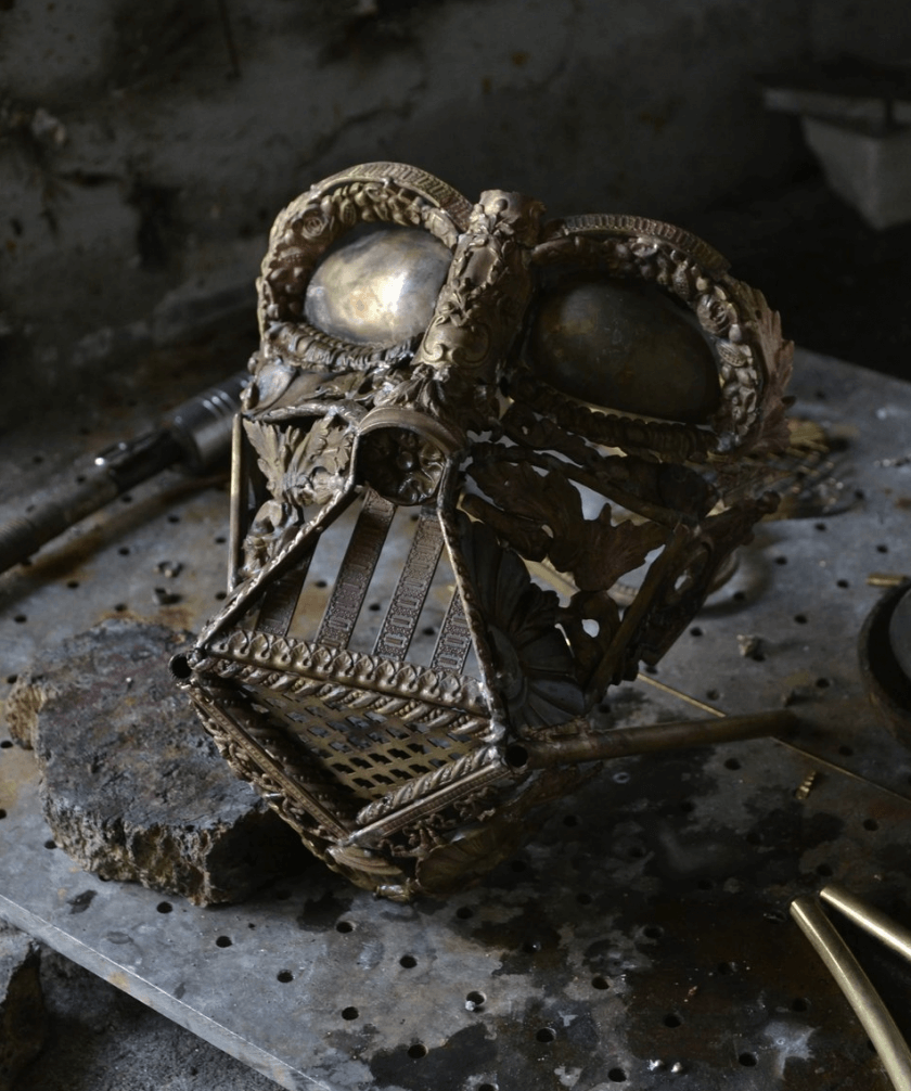 alain bellino star wars fy 11 - Sculptor Uses Dismissed Metal Objects To Create Star Wars Sculptures
