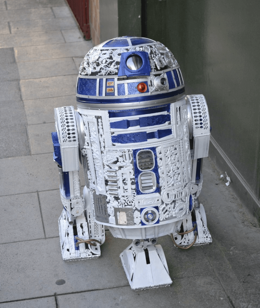 alain bellino star wars fy 2 - Sculptor Uses Dismissed Metal Objects To Create Star Wars Sculptures