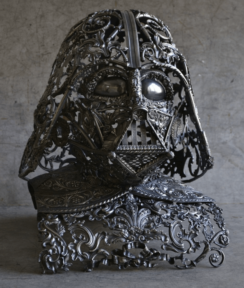 alain bellino star wars fy 3 - Sculptor Uses Dismissed Metal Objects To Create Star Wars Sculptures