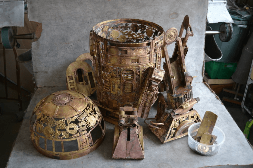 alain bellino star wars fy 6 - Sculptor Uses Dismissed Metal Objects To Create Star Wars Sculptures