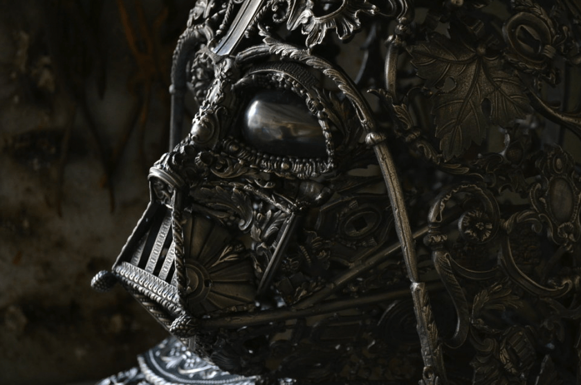 alain bellino star wars fy 8 - Sculptor Uses Dismissed Metal Objects To Create Star Wars Sculptures