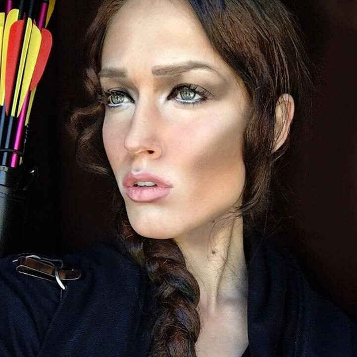 Rebecca Swift Completely Transforms Herself into 100 Celebrities -makeup, body art