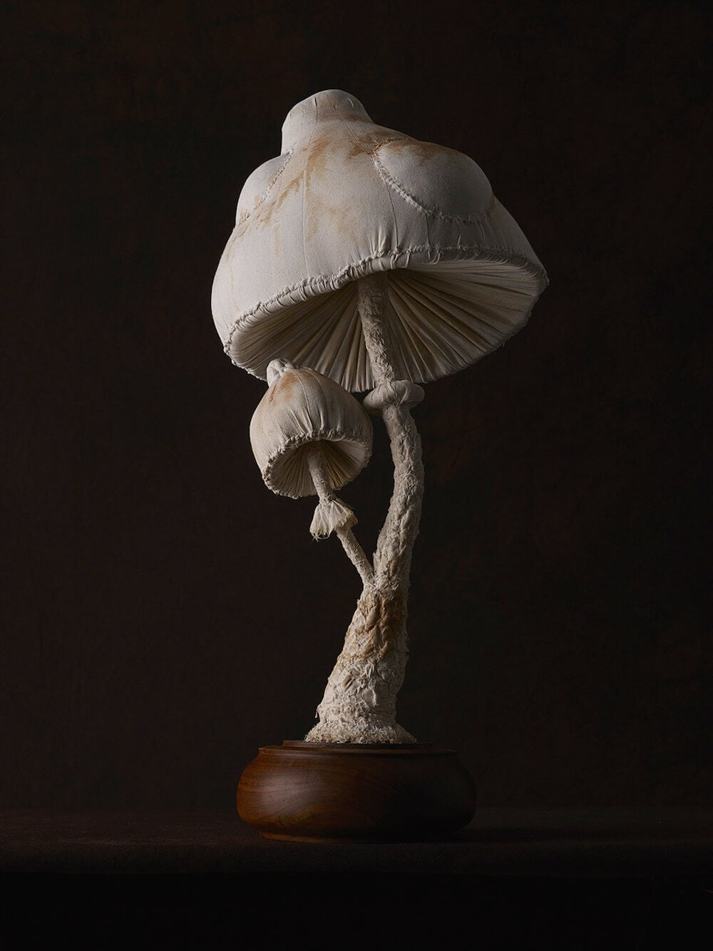 Artist Creates Toadstool Sculptures Crafted From Vintage Textiles -sculpture, plants, mushrooms