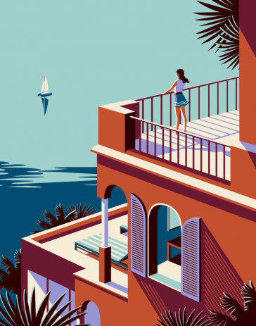Bold And Beautiful Vintage-Inspired Travel Illustrations By Malika Favre -vintage, travel