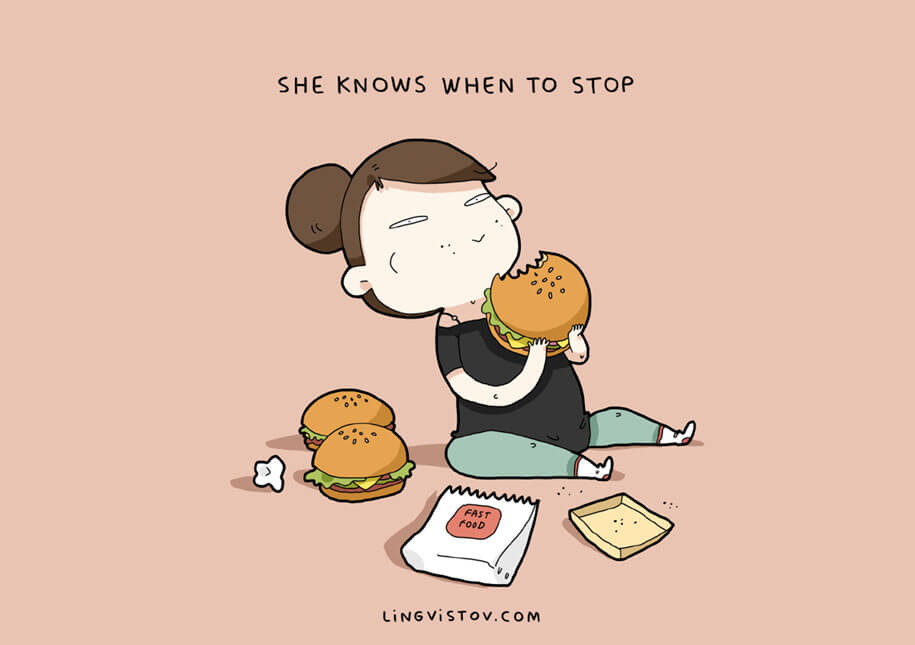 '12 Reasons Why I Love Her' By Lingvistov -LOVE, Lingvistov, illustrations, drawings, cartoons