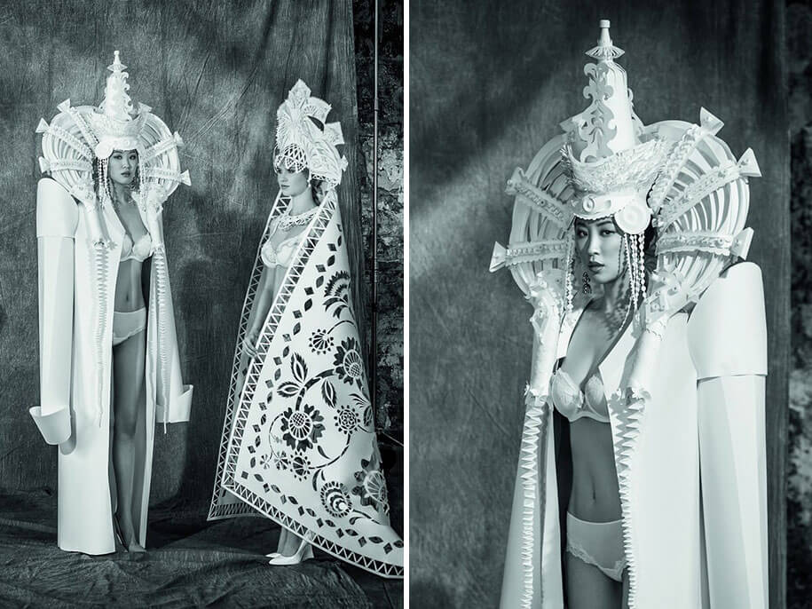 Complex Paper Wedding Dresses By Asya Kozina -paper-art, paper