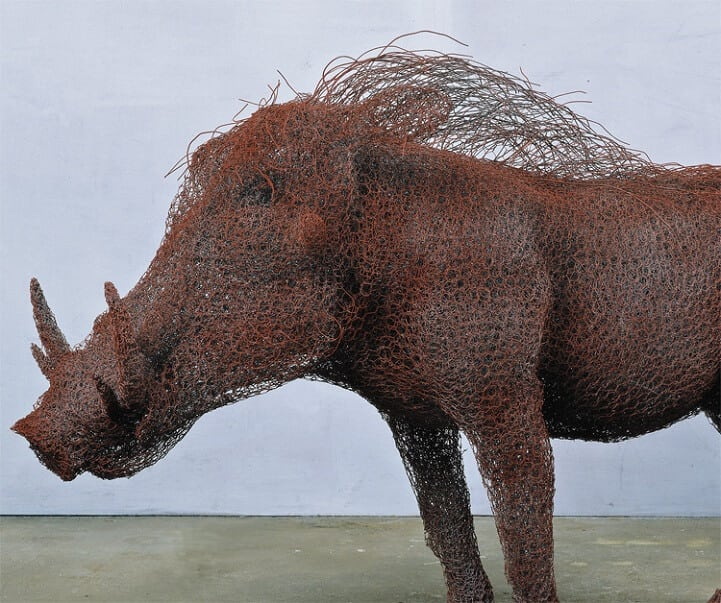 kendra haste fy 3 - Artist Creates Life-Size Animal Sculptures Made Completely Out of Wire
