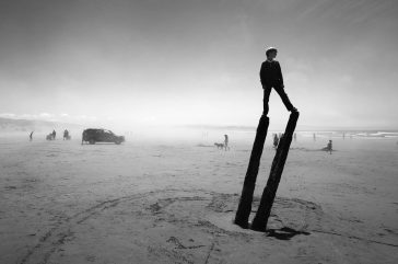 Photographer Shoots Silhouette in Mysterious Landscapes -landscapes, black and white