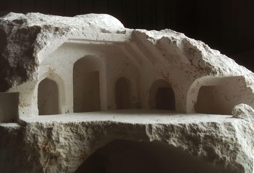 Matthew Simmonds' Miniature Architectural Structures Carved Into Stone -sculptures