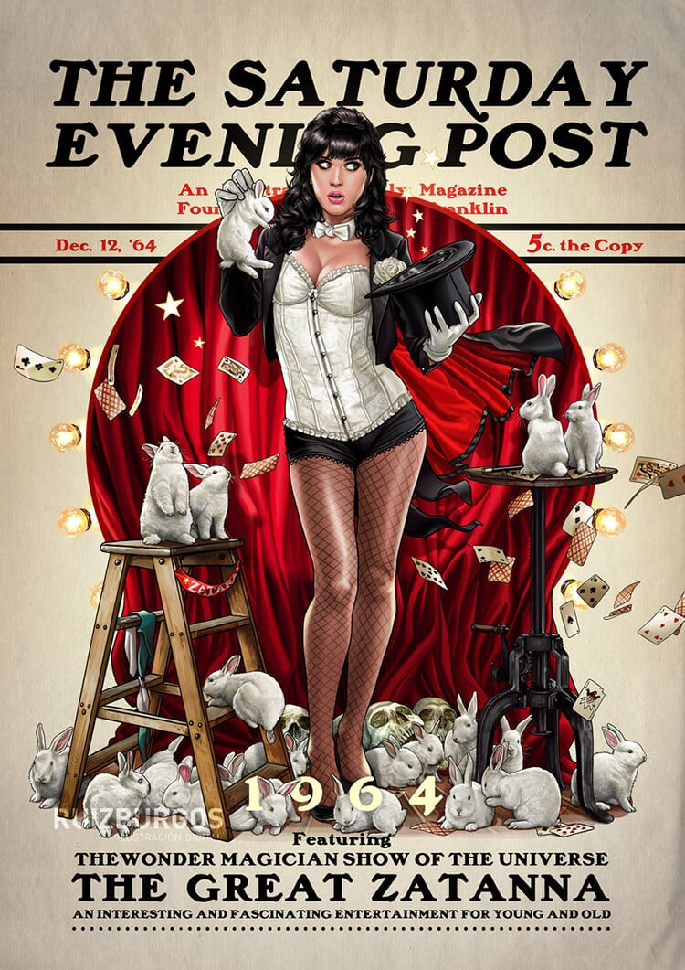 DC Comics Characters Illustrated on Iconic Covers of 'The Saturday Evening Post' -