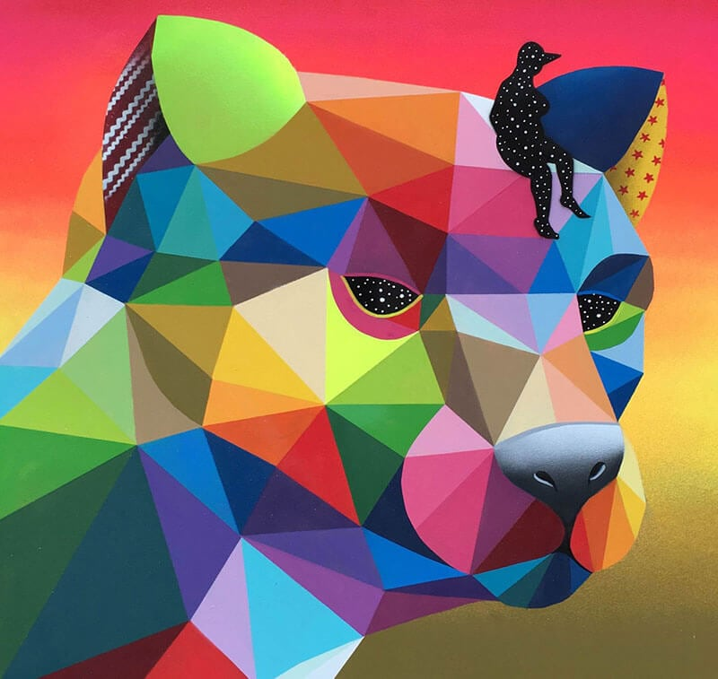 Geometric paintings by okuda san miguel freeyork for Cuadros con formas geometricas