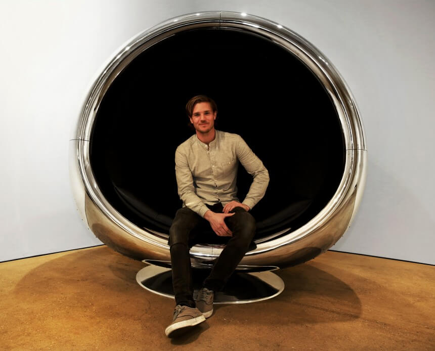 Boeing 737 Engine Cowling Chair by Fallen Furniture -furniture, chair