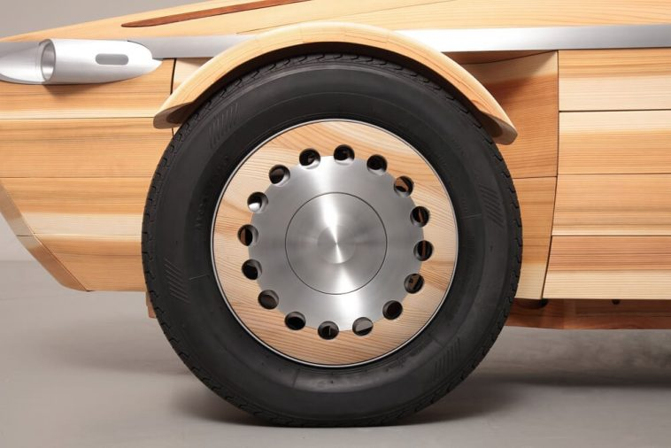 Toyota Has Made New Electric Concept Car Completely From Wood -wood, cars