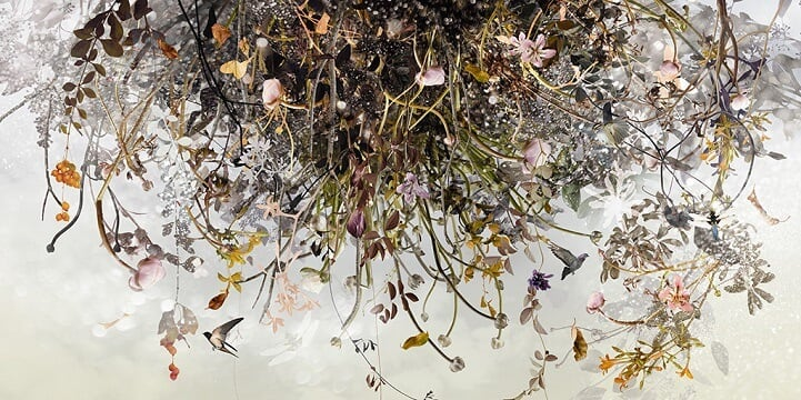 Artist Puts Together Hundreds of Photos to Create Mysterious Tribute to Nature -photo, paintings, painting, nature, artist