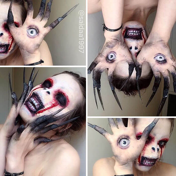 19-Year-Old Makeup Artist Has Mastered Some Insane Skills -makeup, body art