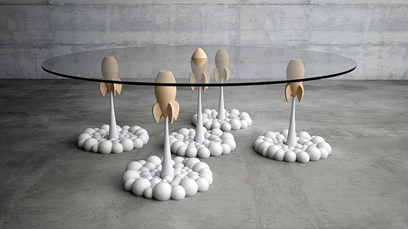 Rocket Coffee Table by Stelios Mousarris -table