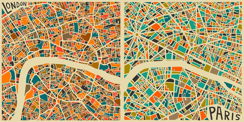 """Cities"" by Jazzberry Blue -paris, london, cities"