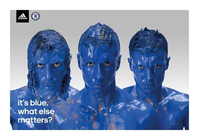 Chelsea's soccer players in Adidas advertising -soccer, football, advertising campaign, advertising, Adidas