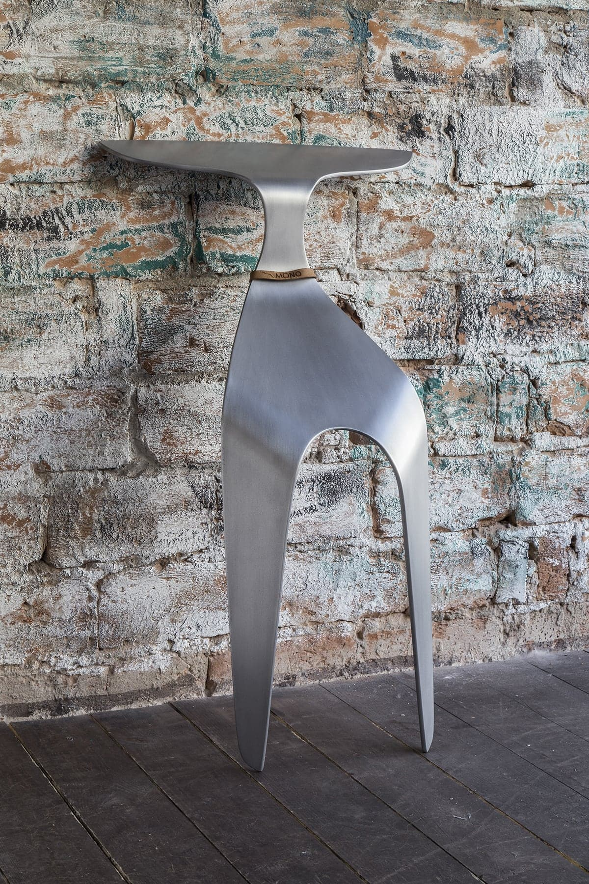 Czech Designer Created  'The Mono Chair' From A Single Piece Of Aluminum -furniture, designer
