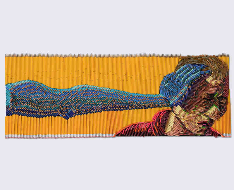 Stunning Sculptures Made Out Of Colored Pencils -sculptures, pencil, paintings