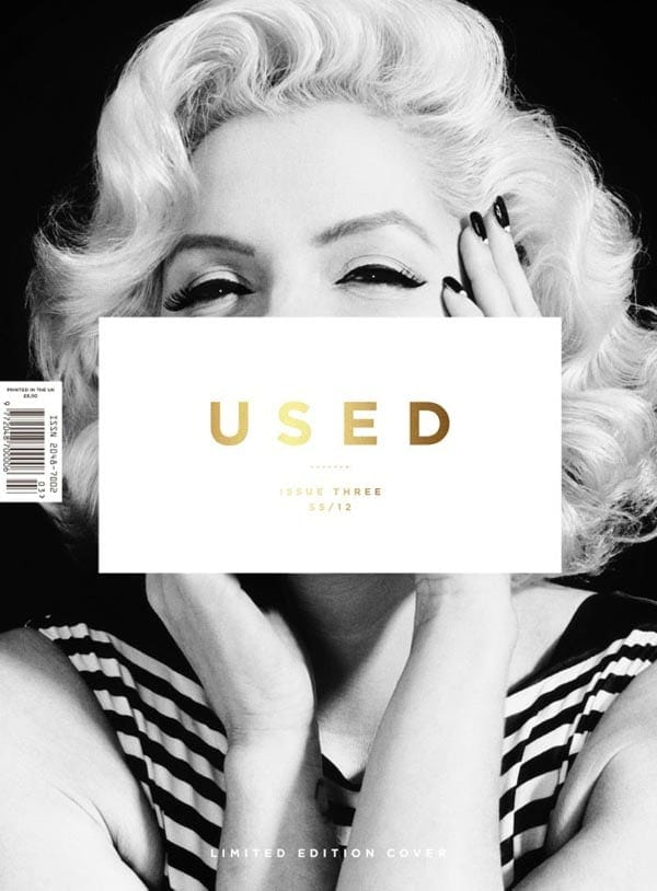 Twin of Marilyn Monroe on the cover Used Magazine -photo session, black and white