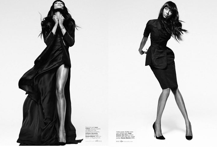 Naomi Campbell for ELLE -Thomas Whiteside, photoshoot, Naomi Campbell, Elle