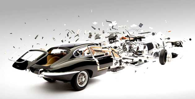 Exploded cars by Fabian Oefner -