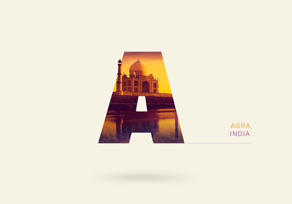 Around The World With Type -typography